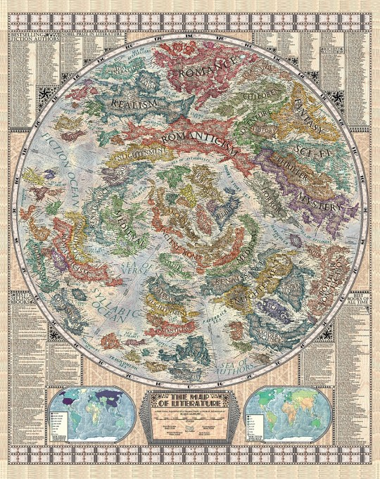 Literary maps: The Map of Literature - full image