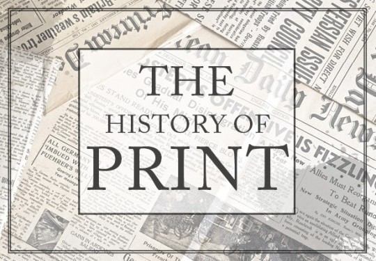 The history of the printed word