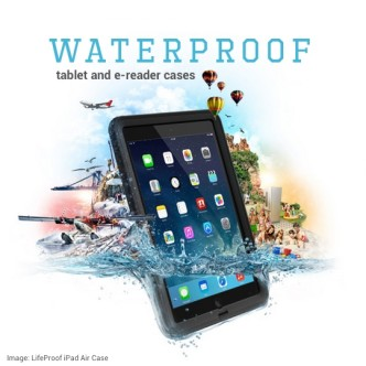 Waterproof tablet and e-reader cases