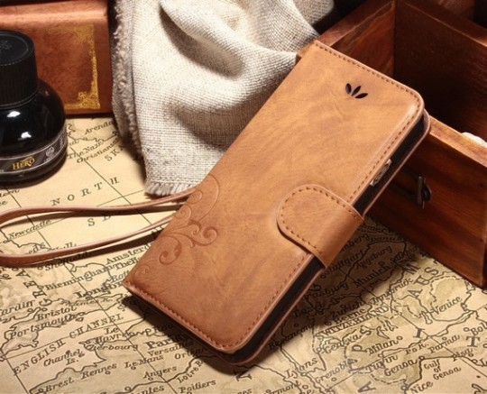 Aco-Uint Book Wallet Case for iPhone 6 Plus