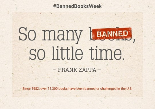 Banned books images: So many (banned) books, so little time