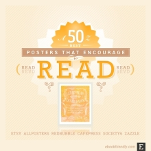 50 awesome posters that encourage to read