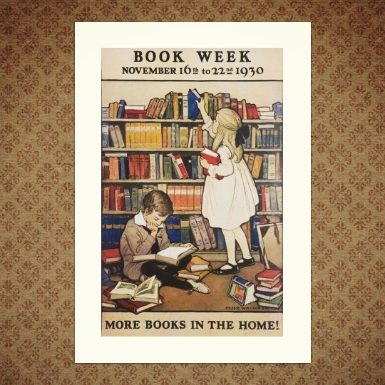 A wonderful vintage poster for Book Week, November  1930 / reproduction available