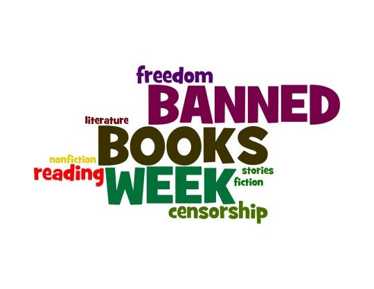 Celebrate Banned Books Week word cloud