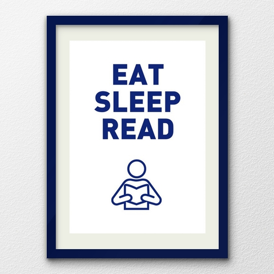 Eat Sleep Read poster by Smart Arte