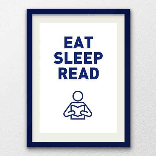 Eat Sleep Read poster by Smart Arte