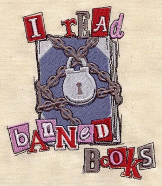 I read banned books embroidery