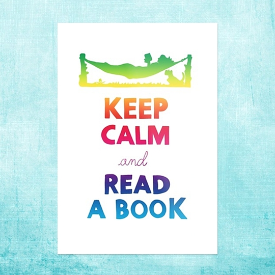 Keep calm and read a #book