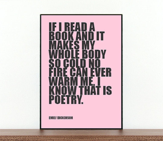 A #book #quote by Emily Dickinson on a poster by The Written Word Prints