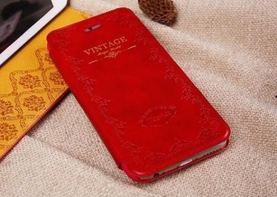 Mosiso Classic Retro Book Case for iPhone 6