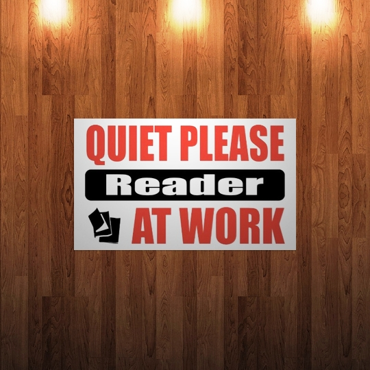 Quiet please! Reader at work!