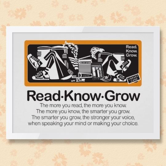 Read Know Grow / a popular poem was visualized by Jackie Designs #reading