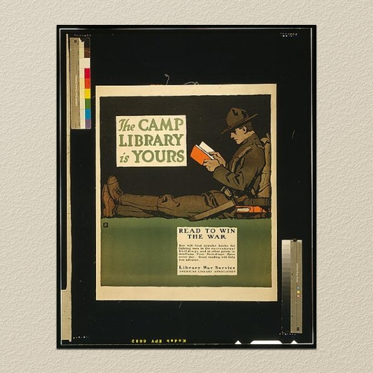 A reproduction of a 1917 poster from the archives of the #Library of Congress
