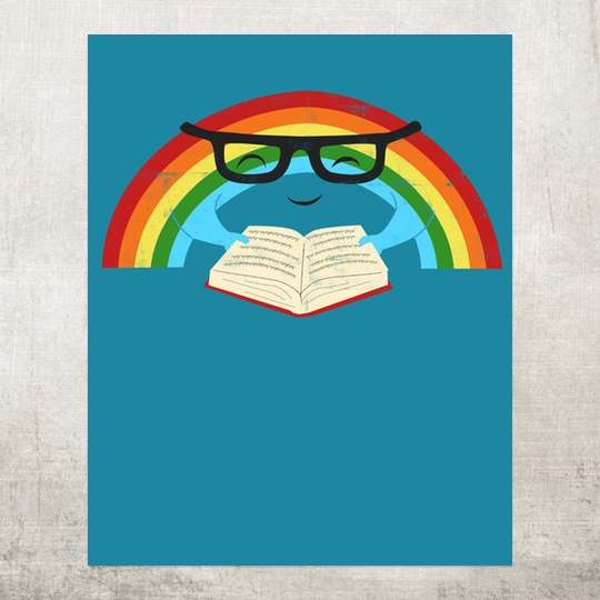 Reading Rainbow. - a wonderful poster designed by Jay Fleck / Society6