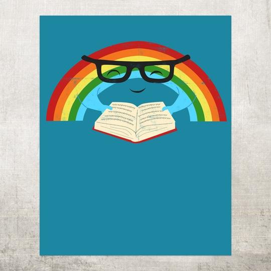 Reading Rainbow. - a wonderful poster designed by Jay Fleck / Society6