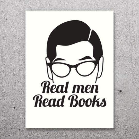 Real men read #books