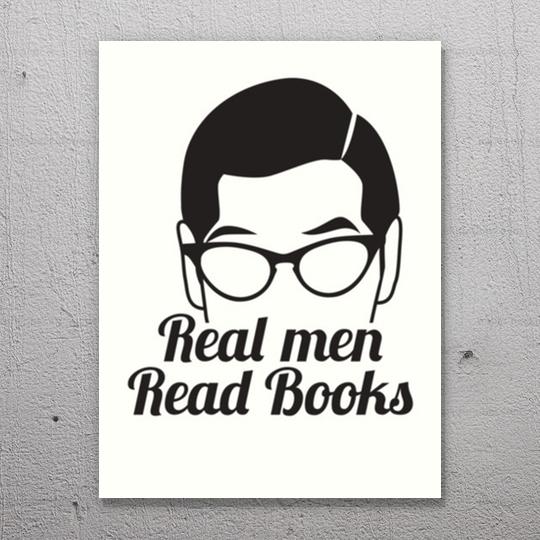 Real men read #books