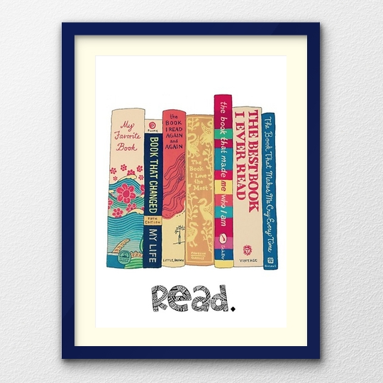 A clever poster  - read the book spines