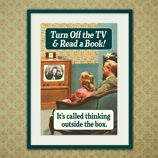 Turn off the TV and read the #book