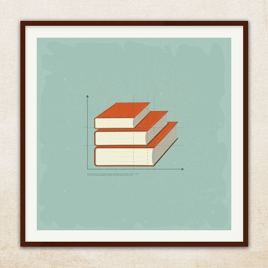 50 awesome posters that encourage to read for Minimal art book