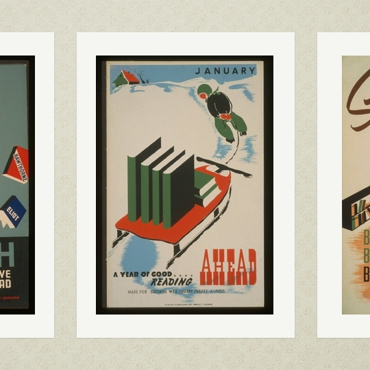 A year of good reading ahead - a vintage poster from WPA collection
