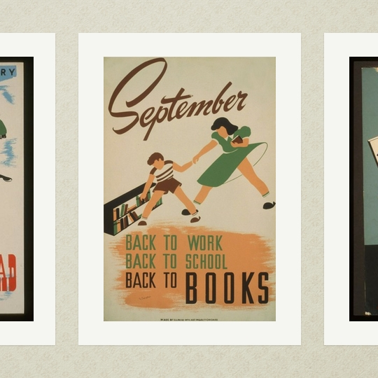 WPA #read poster: Back to work, back to school, back to #books
