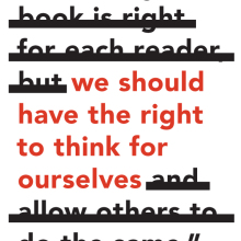 We should have the right to think for ourselves