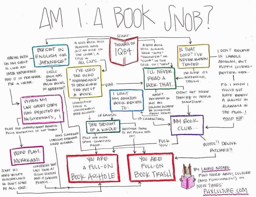 Fun chart: Am I a #book snob?
