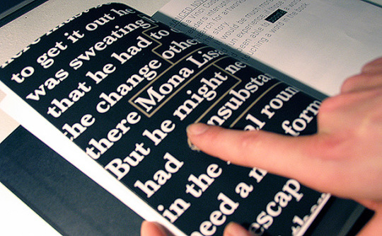 Blink by Manolis Kelaidis is a concept of a print book that is linked to digital content
