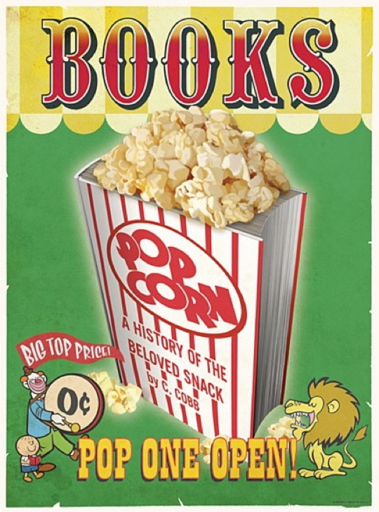 Books - pop one open / a poster encouraging kids to #read