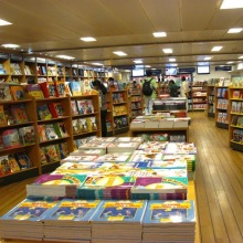 Bookstore on board of Logos Hope