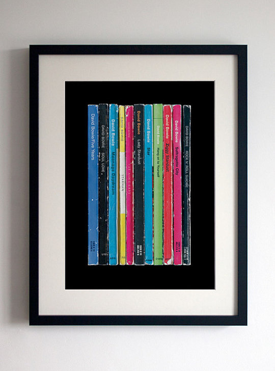 """David Bowie """"Ziggy Stardust"""" as Penguin book covers - visualization"""