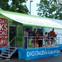 Digitl Bookmobile open for visitors