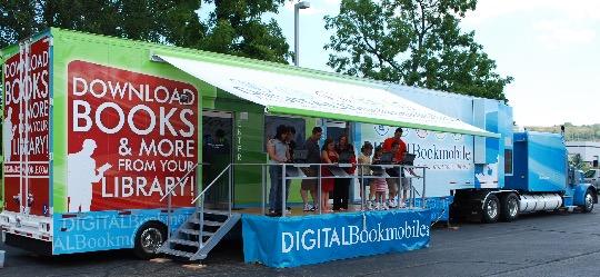 Digitl Bookmobile open for visitors