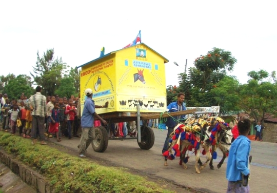 Donkey Mobile Libraries bring books to children in Ethiopia