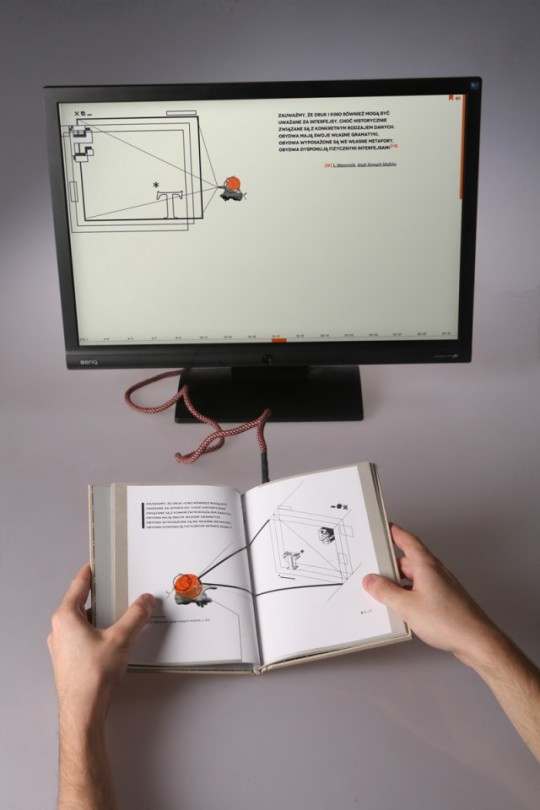 Electrolibrary - a paper book that is computer's interface
