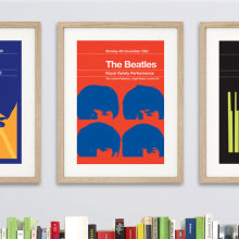 Famous music gigs as Penguin book covers