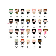 #HarryPotter pixel art alphabet