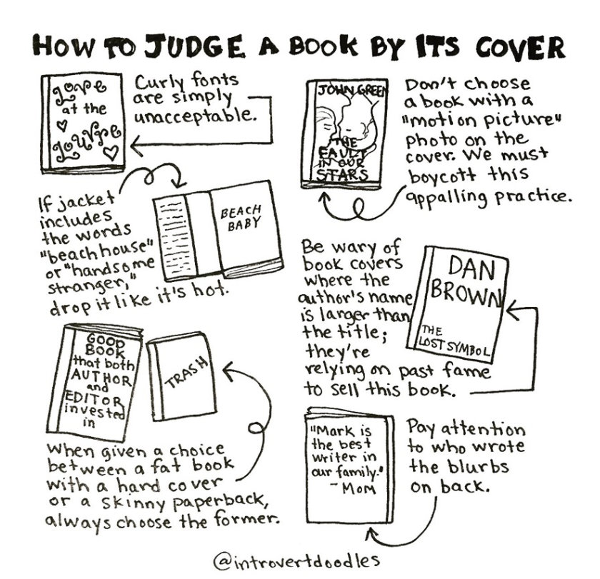 Introvert Doodles - How to judge a book by its cover
