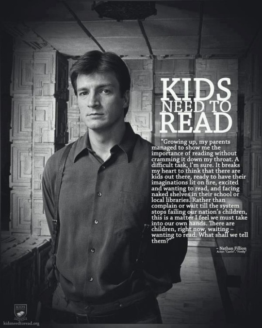 Kids need to read - a #quote by Nathan Fillion