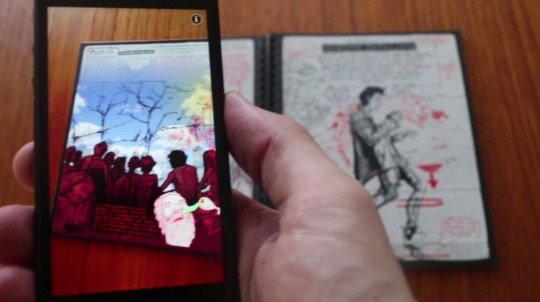 Modern Polaxis is an augmented reality comic book