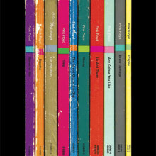 "Pink Floyd ""The Dark Side of the Moon"" album as Penguin book covers"