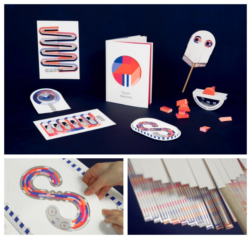 Project that combine print books and technology - Papier Machine - an innovative book that includes interactive toys silkscreened with conductive ink