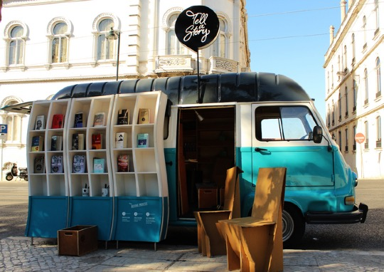 Tell a Story a stylish bookmobile in Lisbon