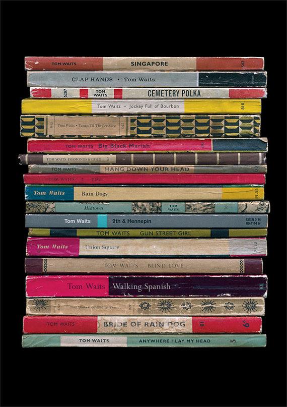 "Tom Waits ""Rain Dogs"" album as Penguin book covers"