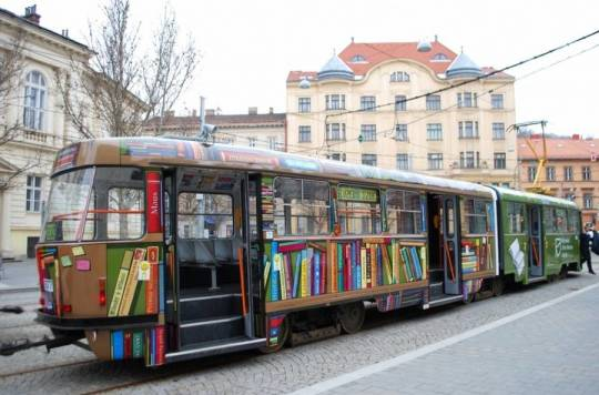 Tram Library in Brno, Czech Republic