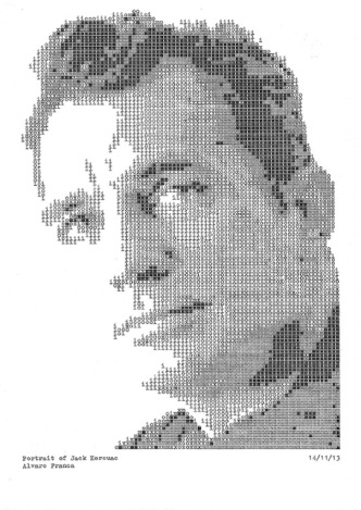 Typewritten Portraits by Alvaro Franca - Jack Kerouac