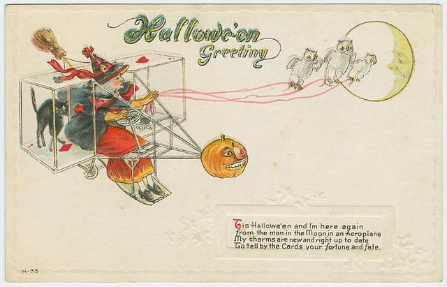 Vintage Halloween cards - Halloween greeting