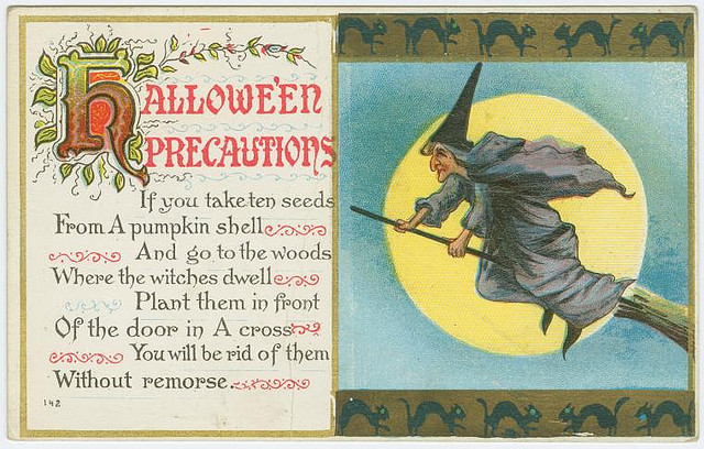 Vintage cards - Halloween precautions