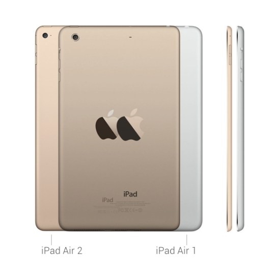 iPad Air 2 vs iPad Air 1 - dimensions and positions of buttons